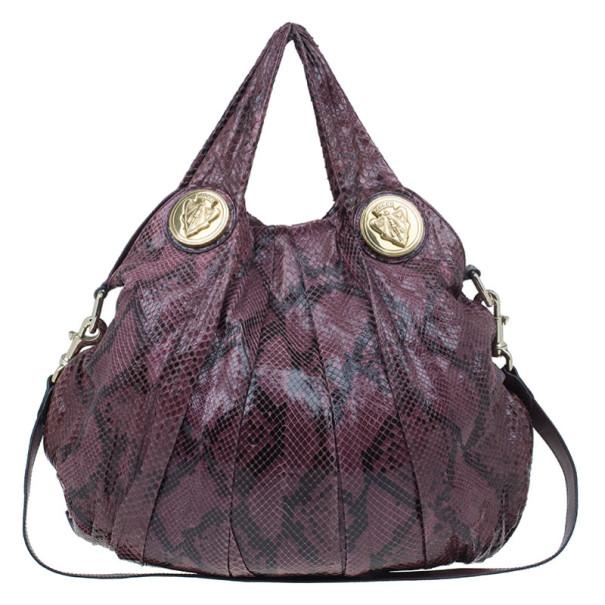 12b9ea4237b3 Buy Gucci Purple Python Hysteria Hobo 8018 at best price | TLC
