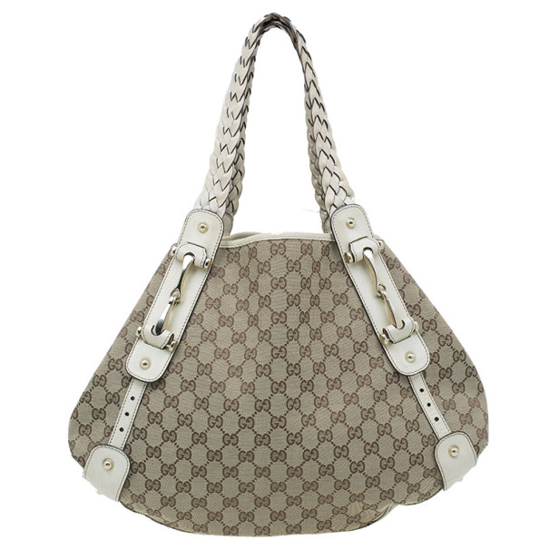 3ee6fbecf Buy Gucci Beige Monogram Canvas Large Pelham Tote 9184 at best price ...