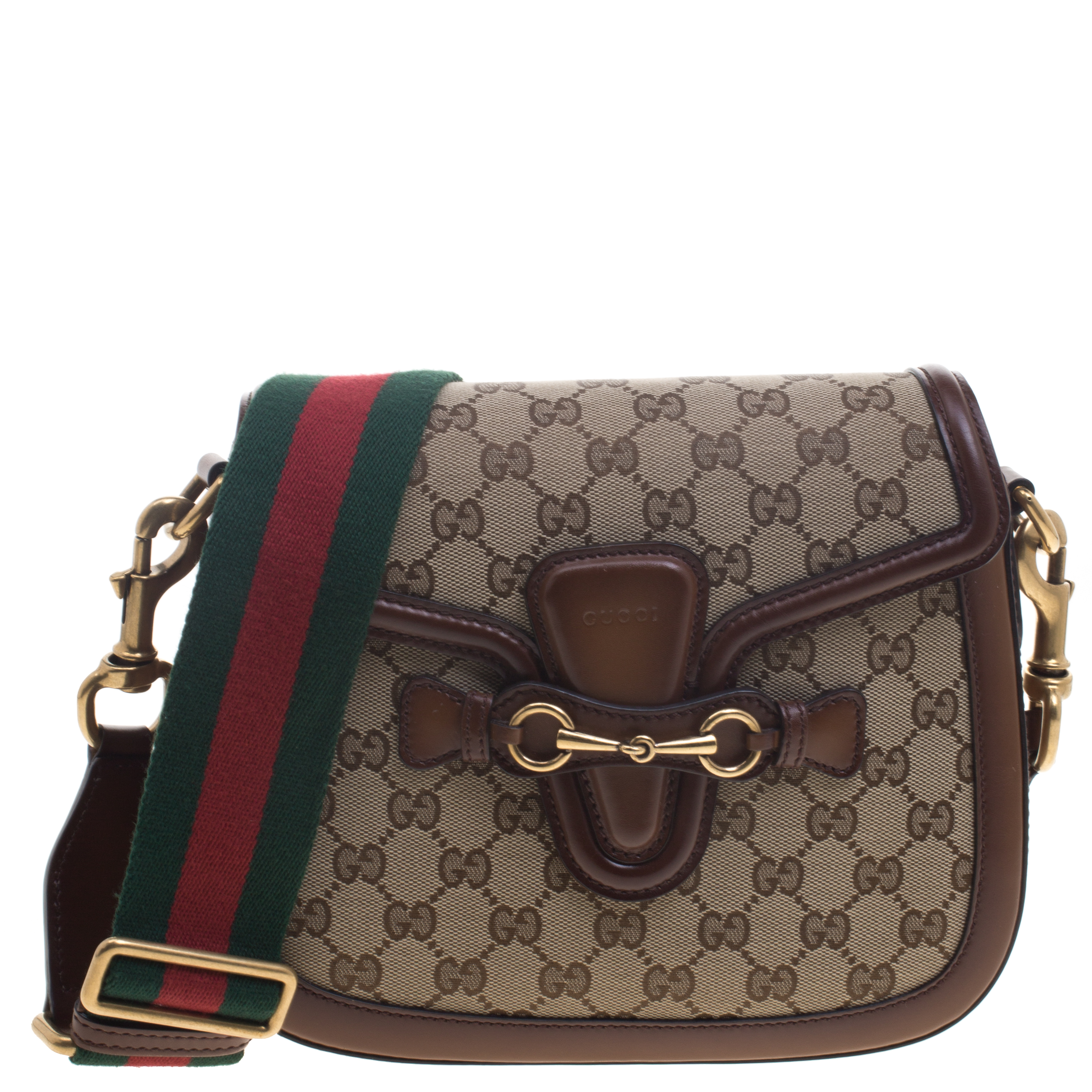 848ff997e8069 Buy Gucci Brown Beige GG Canvas Medium Lady Web Shoulder Bag 94245 ...