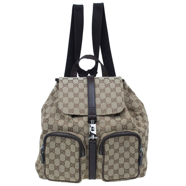 e137e52f0f53 ... Gucci Brown Original GG Embossed Monogram Canvas Backpack. nextprev.  prevnext