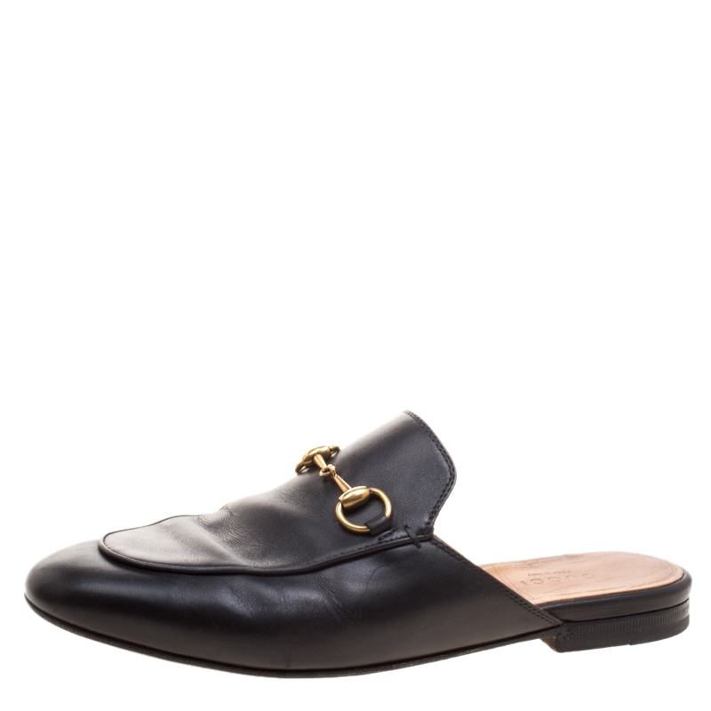 e3656367bbc4 Buy Gucci Black Leather Princetown Mule Loafers Size 36.5 123775 at ...