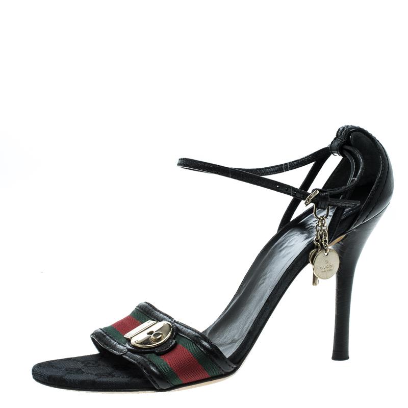 c5332a7f7e1a ... Gucci Web Detail Ankle Strap Sandals Size 41. nextprev. prevnext