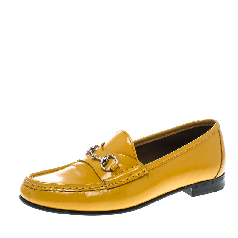 1a6ceb28145 ... Gucci Yellow Leather 1953 Horsebit Loafers Size 38. nextprev. prevnext
