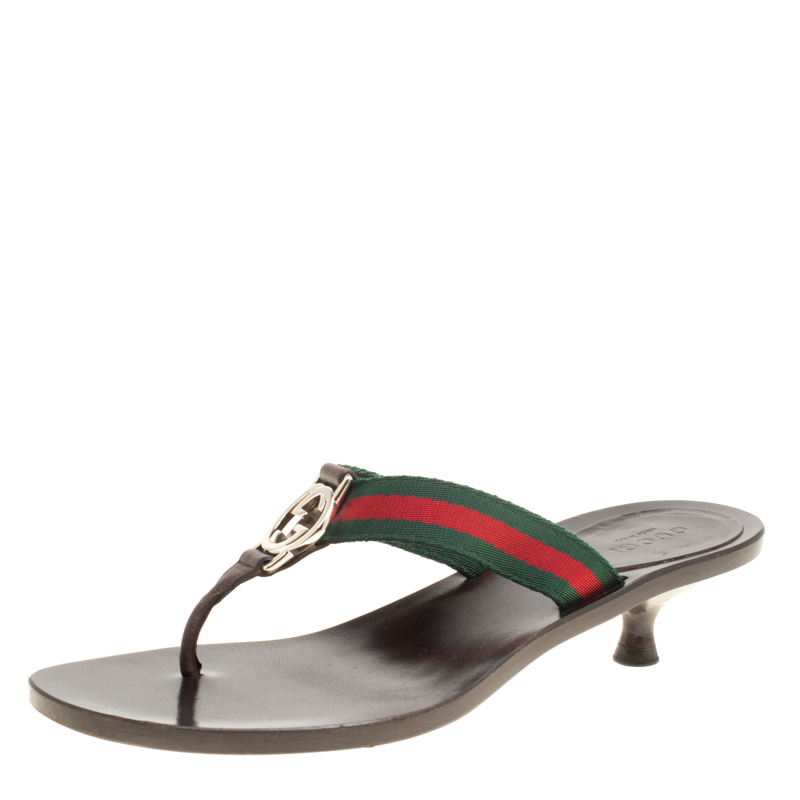 9a3562ee45e9 Buy Gucci Web Detail GG Thong Sandals Size 35 152080 at best price
