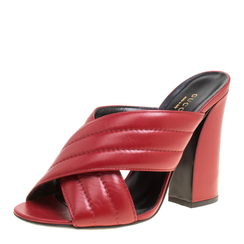 Gucci Red Leather Sylvia Crossover
