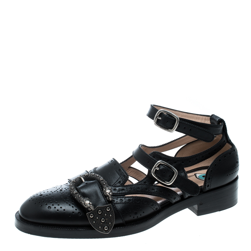 600f9fea2 ... Gucci Black Perforated Leather Queercore Brogues Size 39.5. nextprev.  prevnext