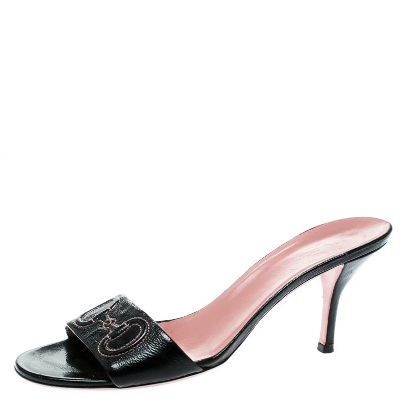 c520c9dec850 Buy Gucci Black Leather Slide Sandals Size 39.5 181815 at best price ...
