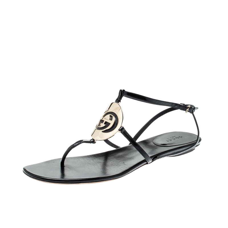 5cbef04bdf33d ... Gucci Black Patent Leather Thong Flat Sandals Size 39.5. nextprev.  prevnext