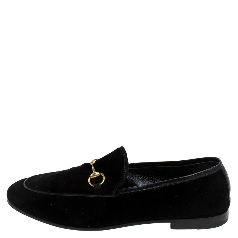 Gucci Black Velvet Jordaan Horsebit