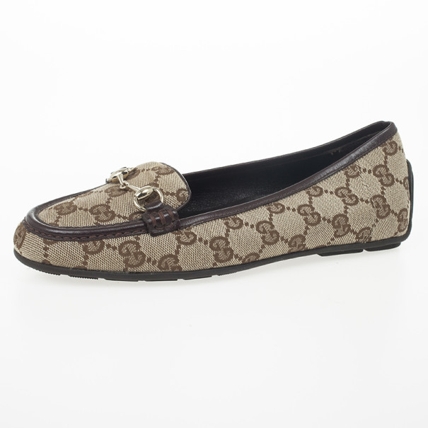 0a1934b025c5 Buy Gucci Guccissima Canvas Horsebit Loafers Size 35 24372 at best ...