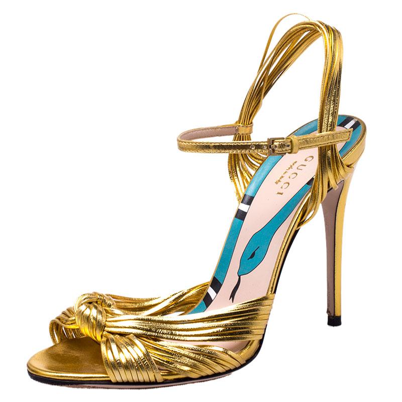 Gucci Gucci Metallic Gold Leather