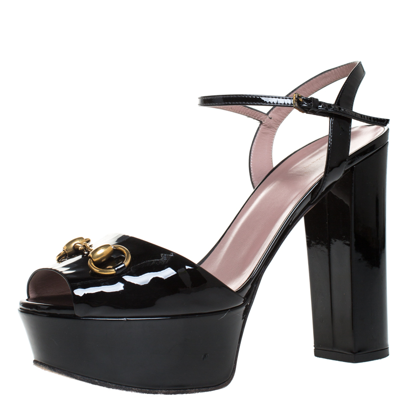 Gucci Black Patent Leather Claudie