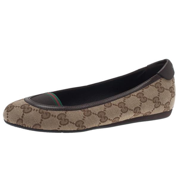 1f9df9c9e ... Gucci Beige Guccissima Canvas Ballet Flats Size 35.5. nextprev. prevnext