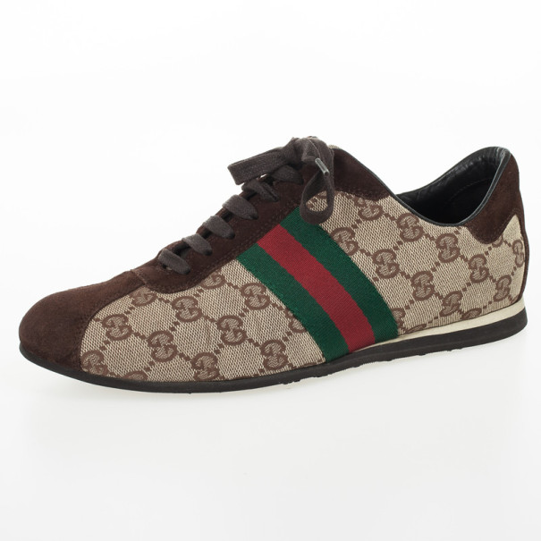 b1de897ea7eb85 Buy Gucci GG Canvas  amp  Classic Web Sneakers Size 38 30315 at best ...