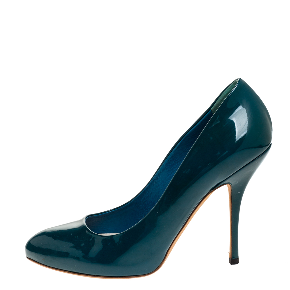 Gucci Green Patent Leather Pumps Size 38  - buy with discount