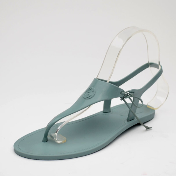 2655f5ddf Buy Gucci Blue Katina Bio-Plastic Rubber Thong Sandals Size 38 35500 at  best price