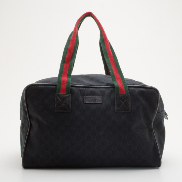 20efb8fa999 Buy Gucci Black Canvas Carry-On Travel Bag 35580 at best price