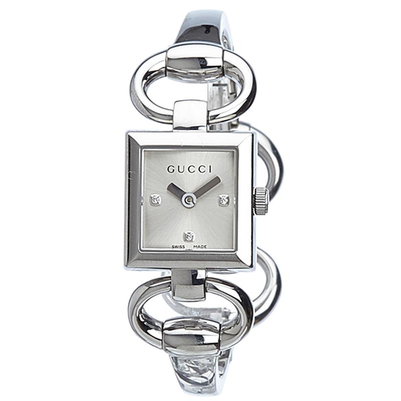 c8bfc1c47 ... Gucci Silver Stainless Steel 120 Tornabuoni Women's Wristwatch 19MM.  nextprev. prevnext