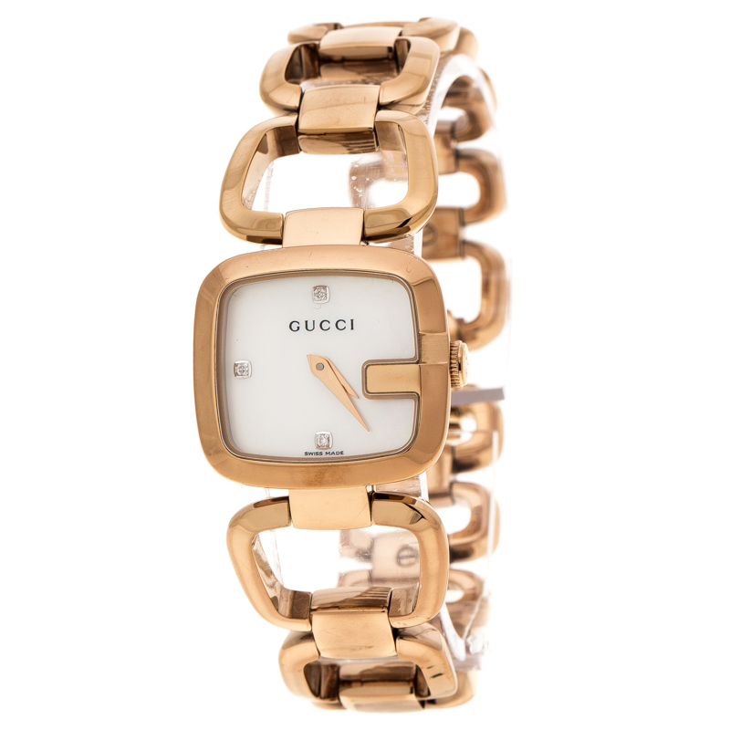 7a618d845e7 Buy Gucci White Mother of Pearl Rose Gold Plated Steel G Series ...