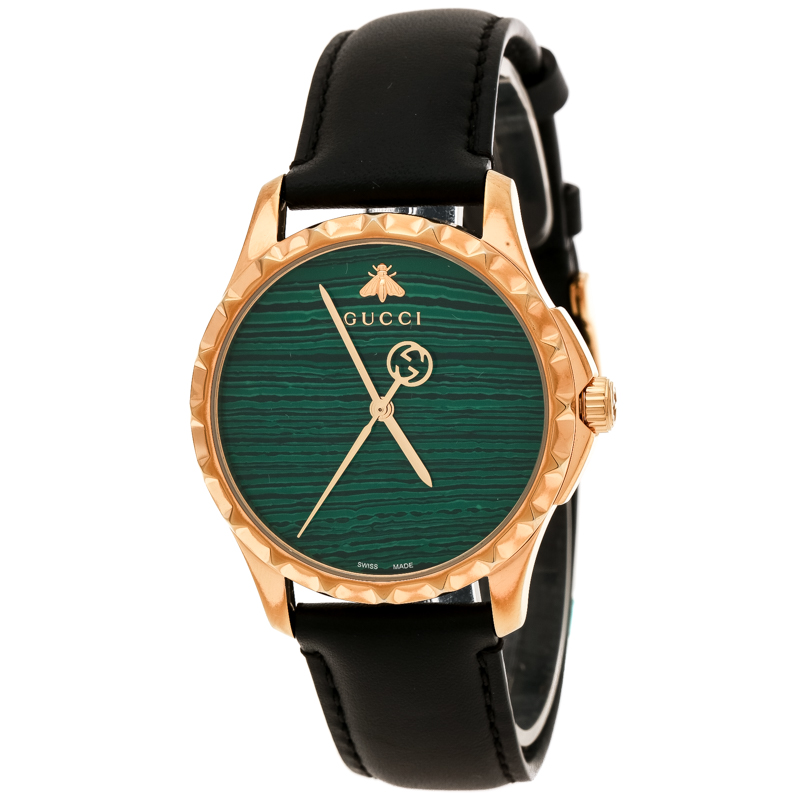 045622511 ... Gucci Green Gold Plated Stainless Steel Le Marché Des Merveilles 126.4  Women's Wristwatch 38 mm. nextprev. prevnext