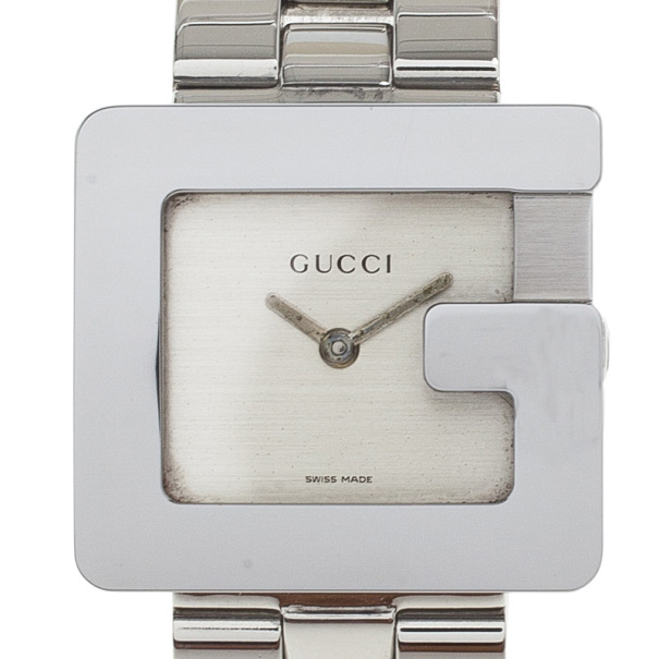 f99a17afc5c Buy Gucci Cream Stainless Steel 3600J Women s Wristwatch 27MM 18337 ...