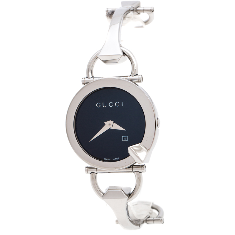 Gucci Black Stainless Steel Chiodo YA122502 Women's Wristwatch 36 mm
