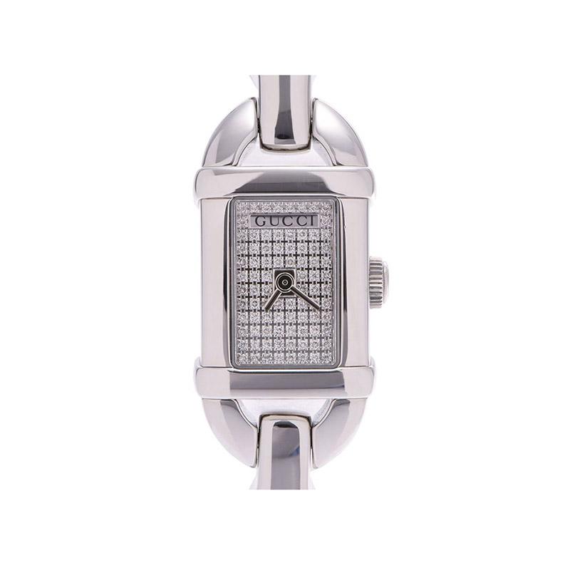 Gucci Silver Stainless Steel YA068501 Women's Wristwatch 16 MM