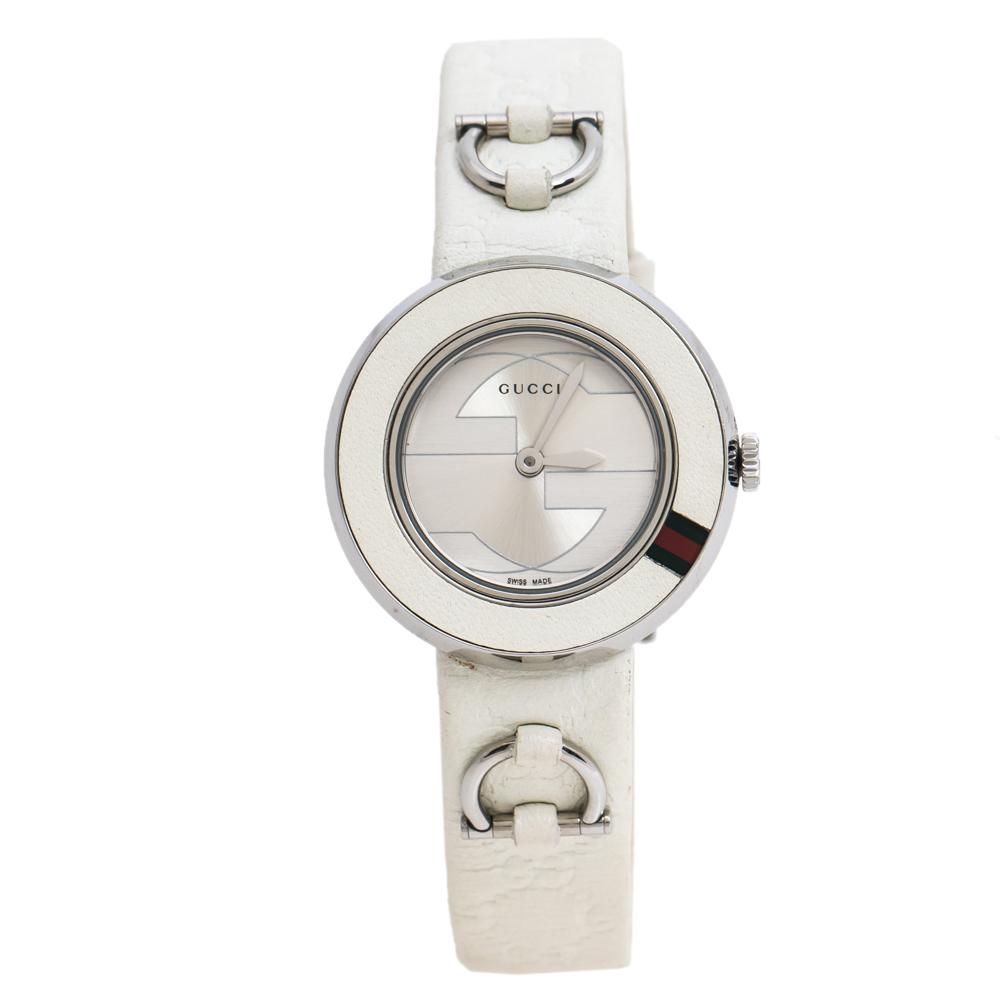 Gucci Silver Stainless Steel U-Play 129.5 Women's Wristwatch 27 mm