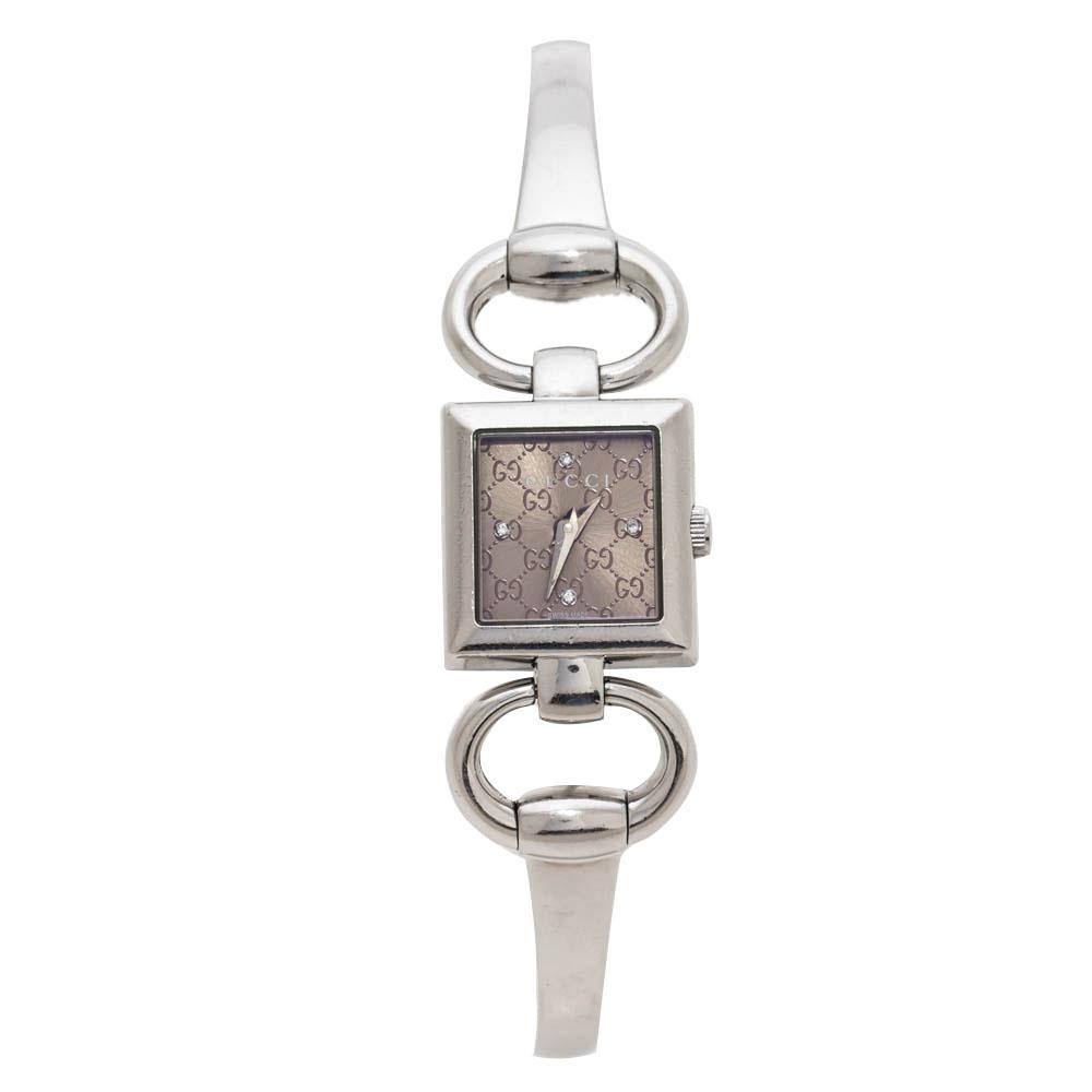 Gucci Bronze Stainless Steel 120 Tornabuoni Women's Wristwatch 19 mm