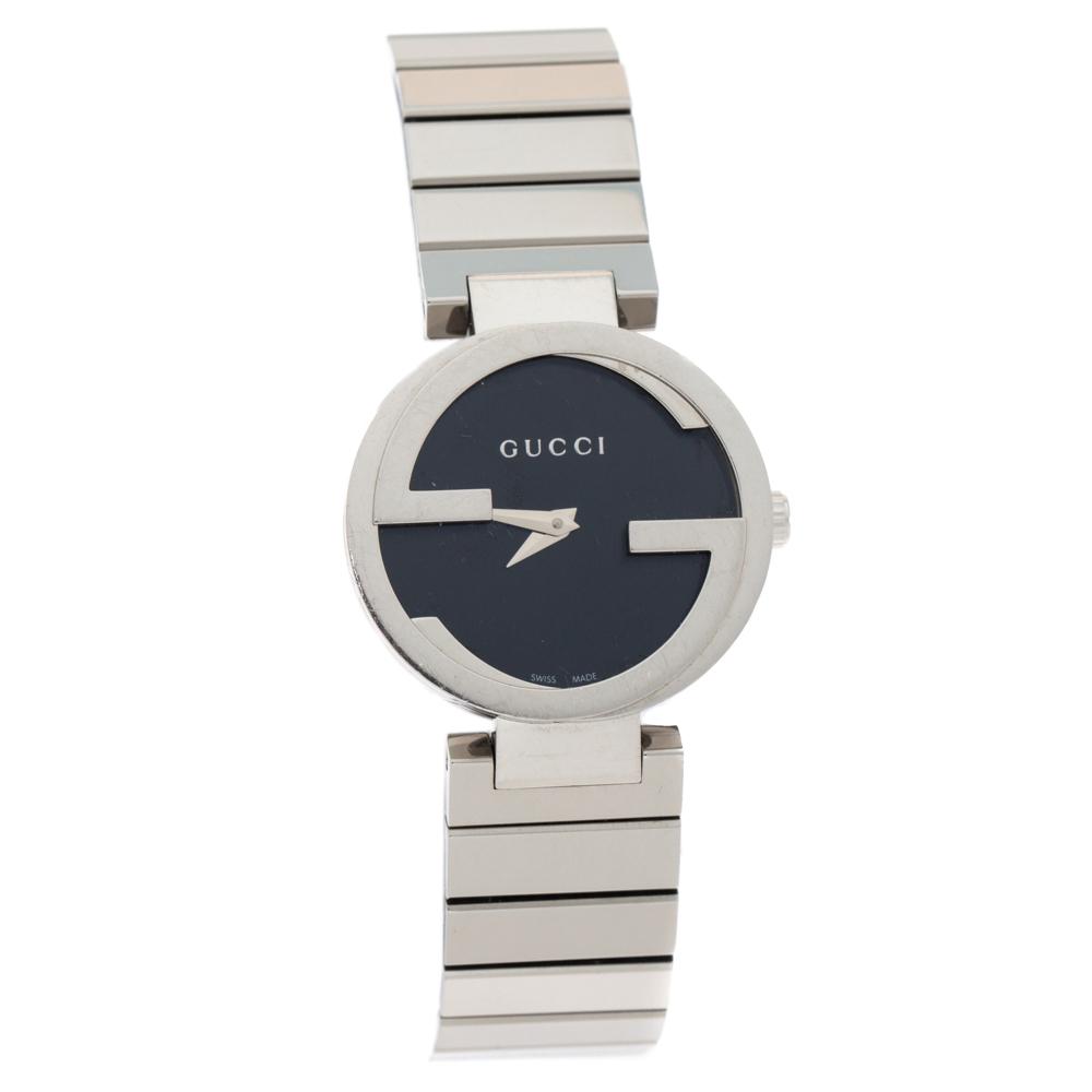 Gucci Black Stainless Steel 133.5 Women's Wristwatch 29 MM