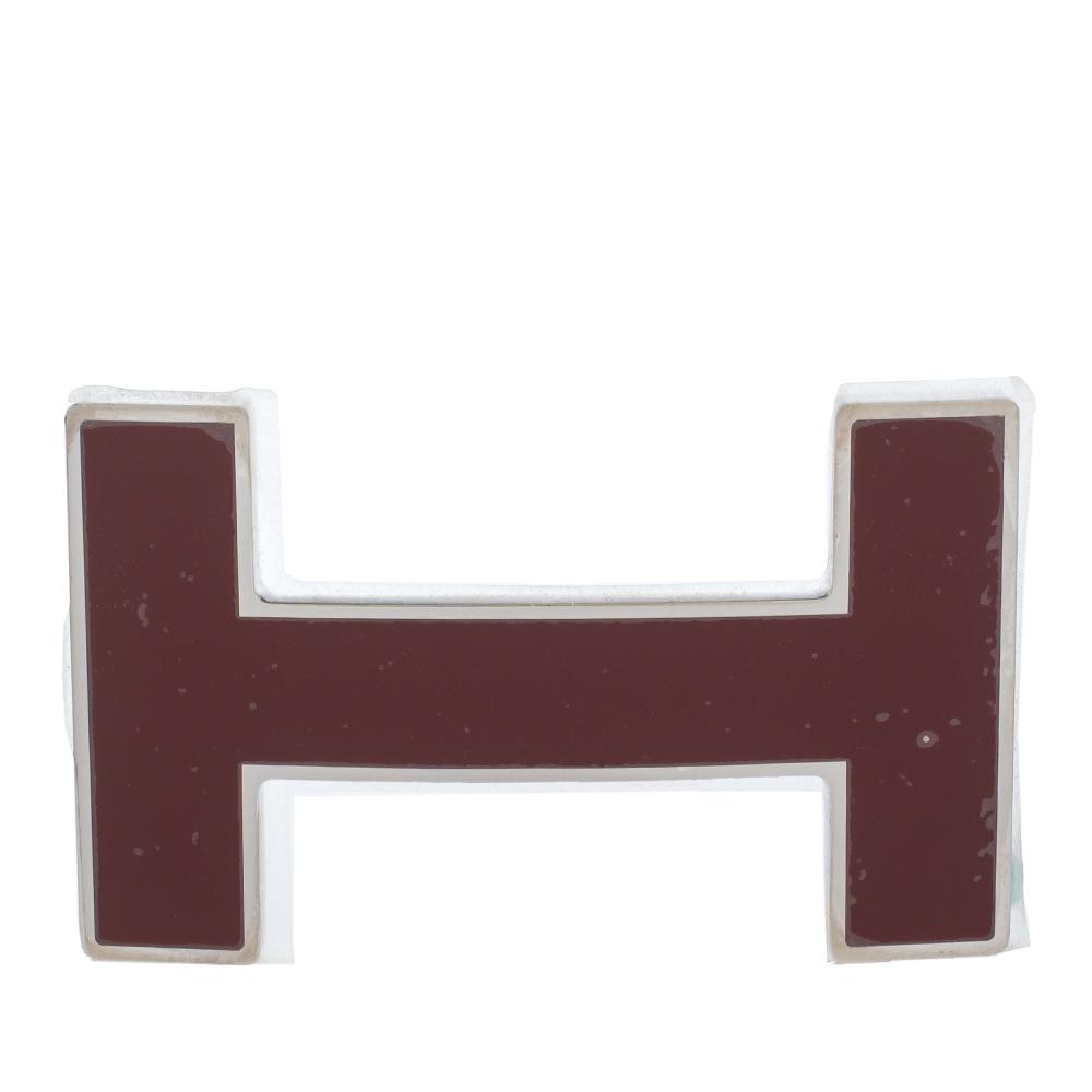 Hermes Rouge H Quizz H Belt Buckle