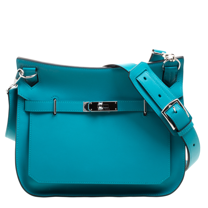 949a289236f98 ... Hermes Turquoise Swift Leather Palladium Hardware Jypsiere 28 Bag.  nextprev. prevnext