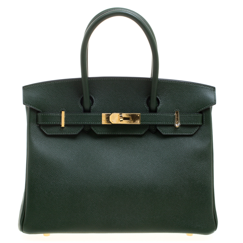 183d41f1200b Buy Hermes Dark Green Epsom Leather Gold Hardware Birkin 30 Bag ...