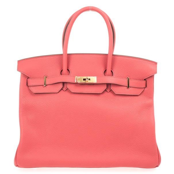 Buy Hermes Rose Jaipur Clemence Birkin Bag 35 CM 29362 at best price ... 72fb5ae69
