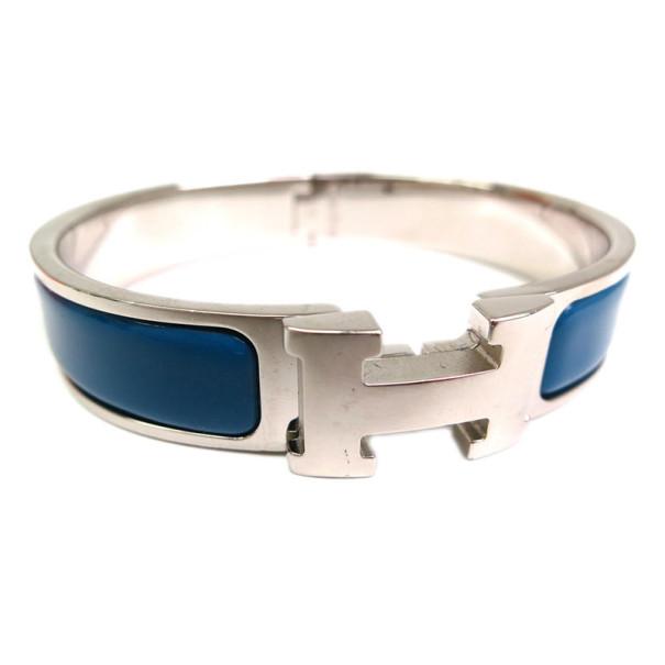 df84cb6064 ... Hermes Clic Clac H Blue Enamel Palladium Bracelet PM. nextprev. prevnext