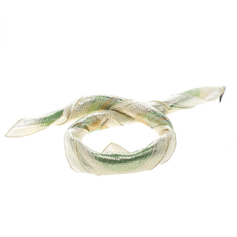 Hermes Boucleries D'attelage Silk Blend Glitter Square Scarf