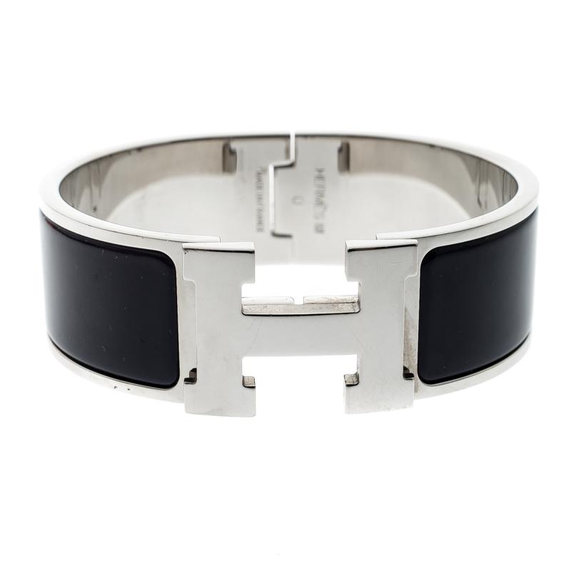 11aa288816 ... Hermes Clic Clac H Navy Blue Enamel Palladium Plated Wide Bracelet PM.  nextprev. prevnext