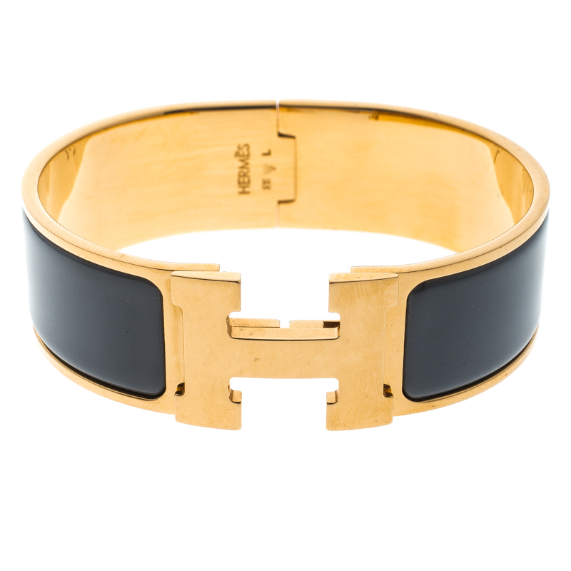 c45aaa111667 ... Hermes Clic Clac H Grey Enamel Gold Plated Wide Bracelet GM. nextprev.  prevnext