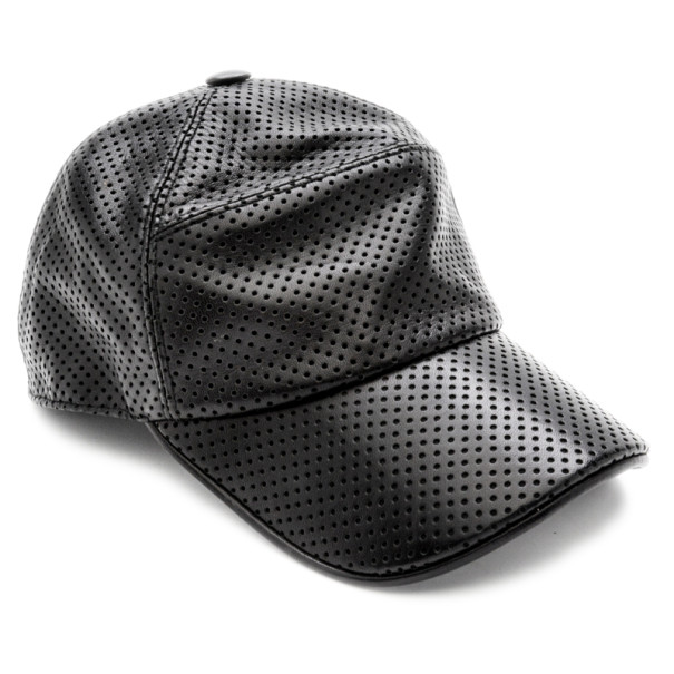 376789f8026 Buy Hermes Black Perforated Leather Cap Size 60 22275 at best price ...