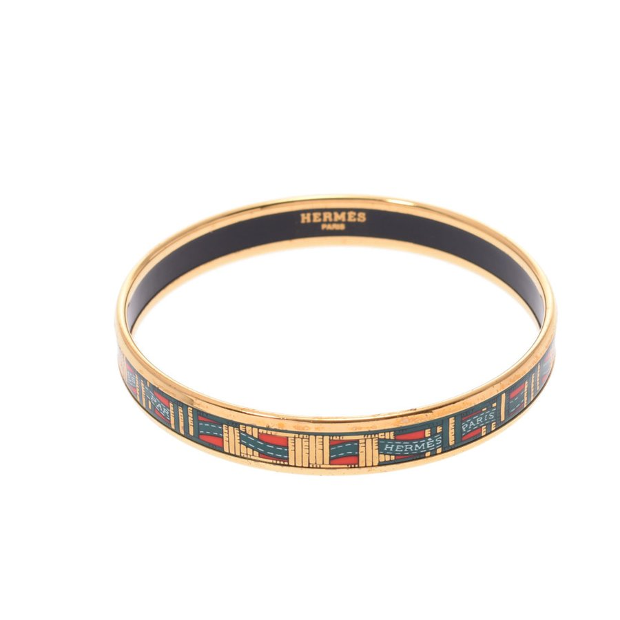 Pre-owned Hermes Multicolor Enamel Ribbon Bracelet