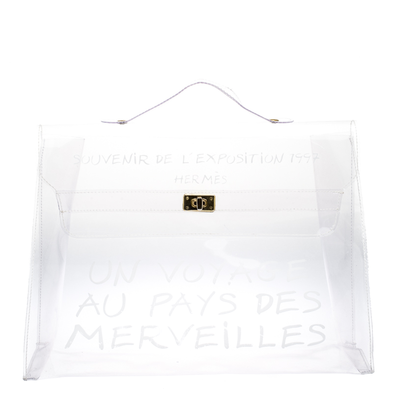 2e900e586c45 Buy Hermes Clear Vinyl Vintage Kelly Bag 103307 at best price