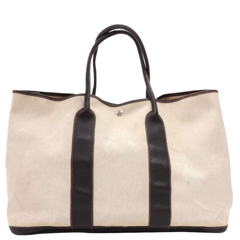 ... Hermes Bicolor Canvas Leather Garden Party GM Bag. nextprev. prevnext 37c9db2d85e27