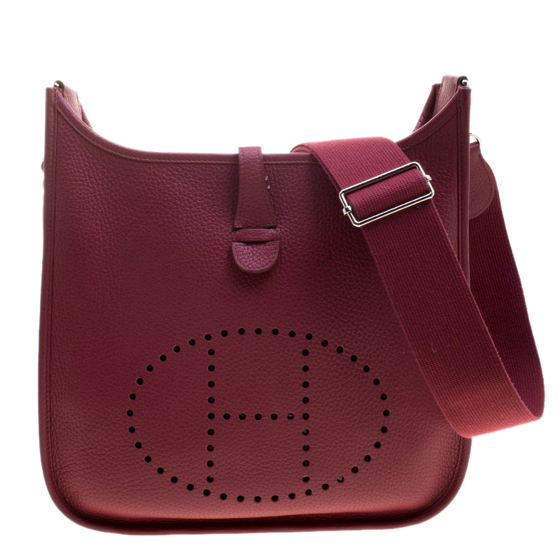 3da1c32afd ... Hermes Rouge Garance Clemence Leather Evelyne III PM Bag. nextprev.  prevnext