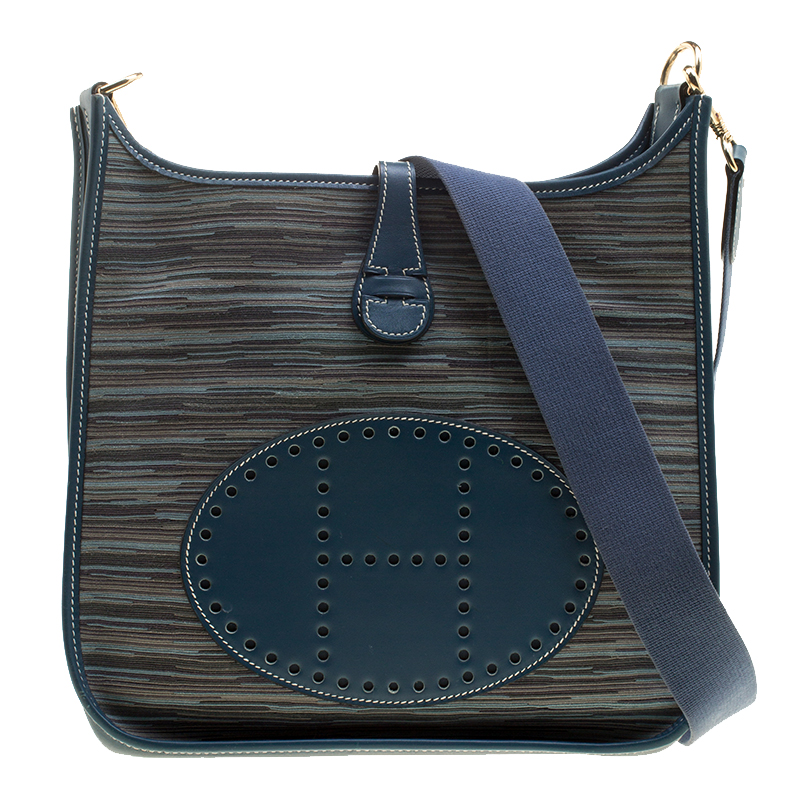 cab100578d ... Hermes Blue Izmir Vibrato Multicolor Leather Evelyne I PM Bag.  nextprev. prevnext