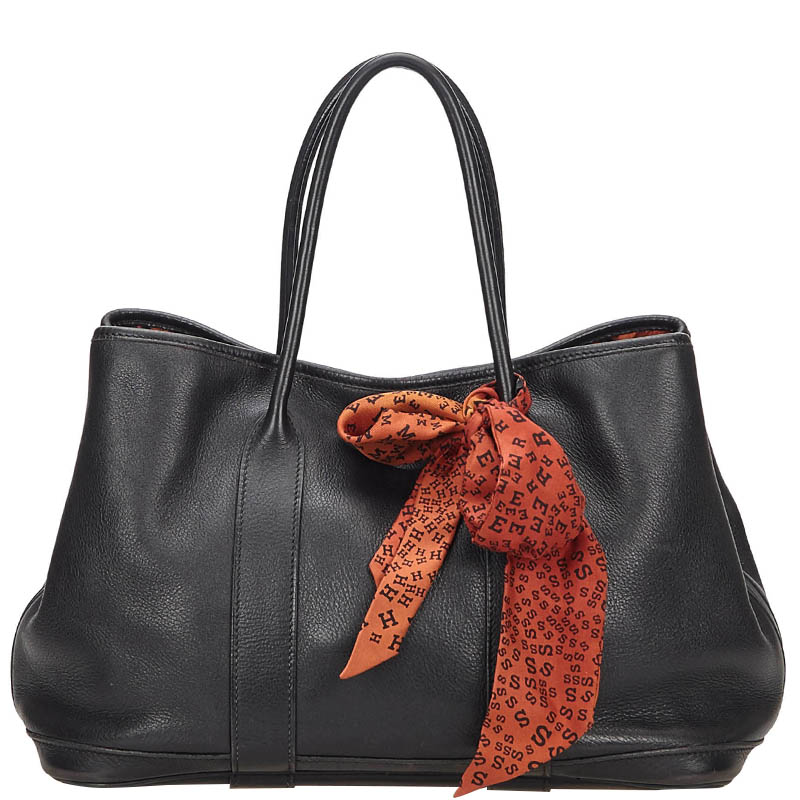 eea0968780e Buy Hermes Noir Leather Garden Party 30 Bag 137958 at best price | TLC