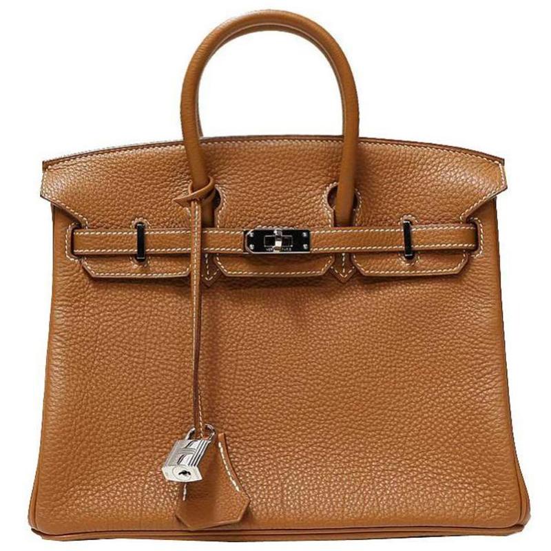 88603a7416e Buy Hermes Gold Togo Leather Palladium Hardware Birkin 25 Bag 140755 ...