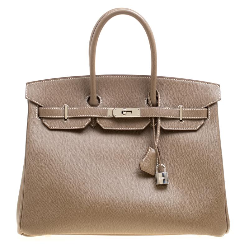 ... Hermes Taupe Epsom Leather Palladium Hardware Birkin 35 Bag. nextprev.  prevnext 034a045c3