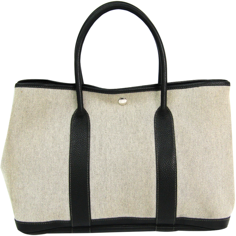 ... Hermes Two Tone Toile Canvas and Leather Garden Party Bag. nextprev.  prevnext 63928ca40f371