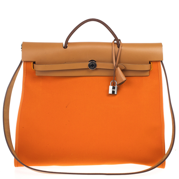 Buy Hermes Canvas and Leather Herbag Zip 39 Bag 17535 at best price ... 15182699d4
