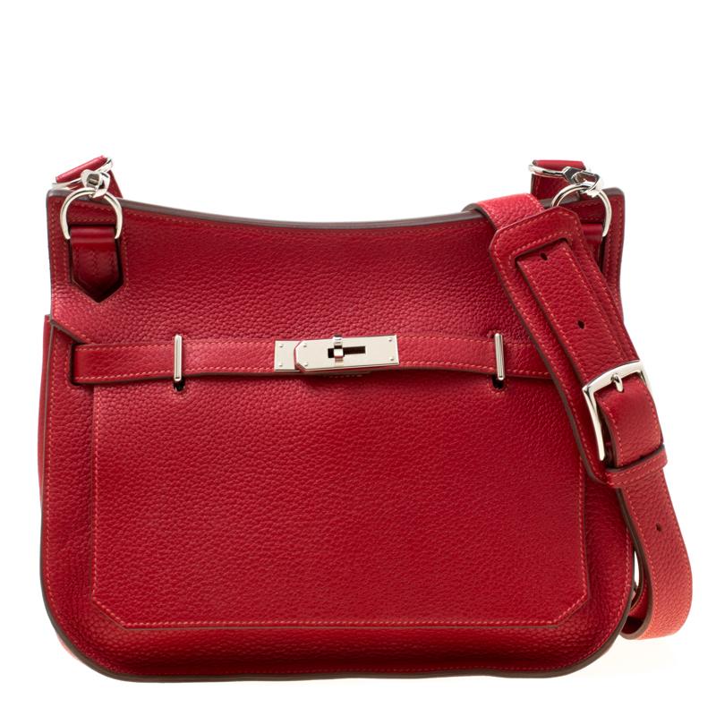 Buy Hermes Rouge Garance Togo Leather Jypsiere 28 Bag 176667 at best ... 0cf21df252